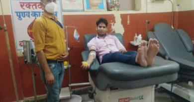 मां सरस्वती ब्लड डोनेशन टीम दौसा ने फिर बचाई एक महिला की जान